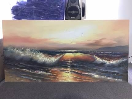 Canvas Wall Art Sunset | Art | Gumtree Australia Stirling Area Inside Mandurah Canvas Wall Art (Image 7 of 20)