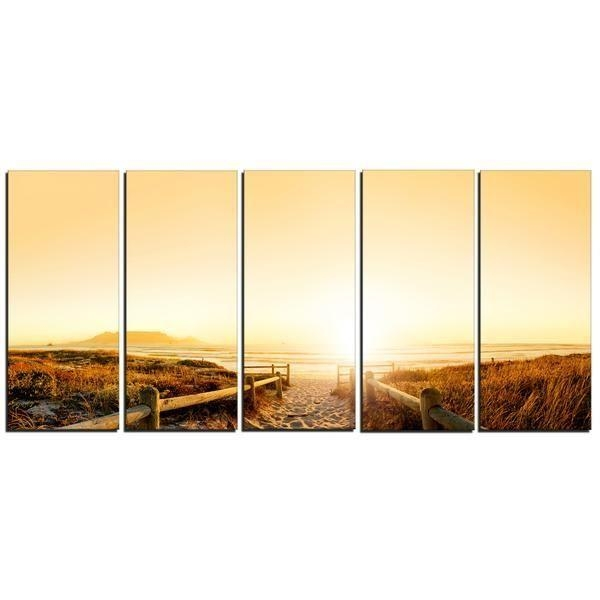 Cape Town Beach Panorama Canvas Wall Art Print | Products Intended For Cape Town Canvas Wall Art (Image 6 of 20)