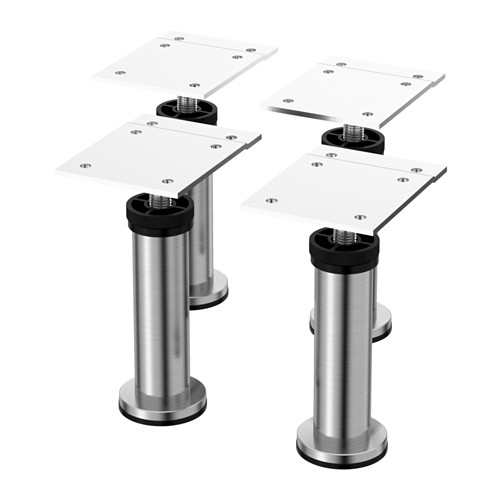 Capita Leg – Stainless Steel – Ikea For Sofas With Adjustable Legs (Image 9 of 10)