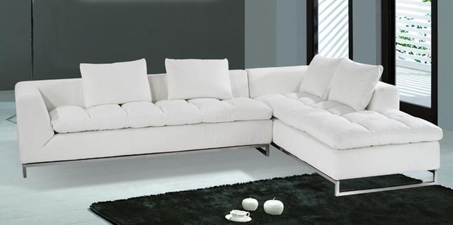 Captivating Elegant White Leather Sectional Chaise Modern On Sofas Pertaining To Vt Sectional Sofas (Image 3 of 10)