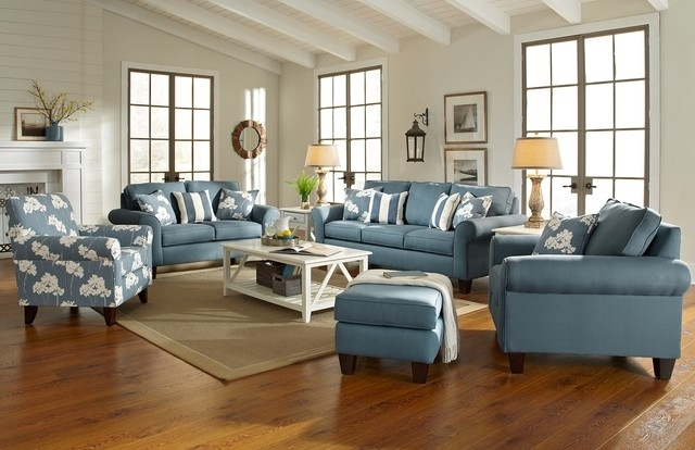 Captivating Lovable Beach Cottage Style Furniture Living Room Pertaining To Cottage Style Sofas And Chairs (Image 2 of 10)