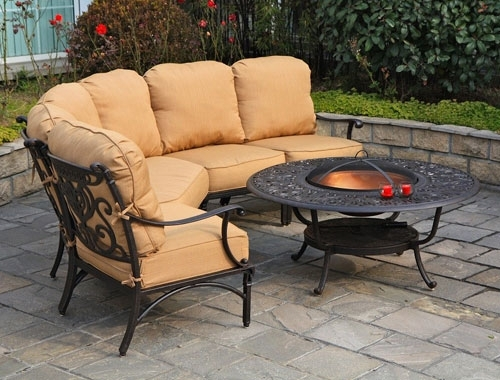 Cast Aluminum Patio Furniture Orange County Ca | Outdoor Sofas Inside Outdoor Sofas And Chairs (Image 4 of 10)