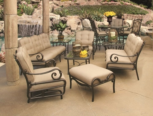 Cast Aluminum Patio Furniture Orange County Ca | Outdoor Sofas Regarding Patio Sofas (Image 2 of 10)