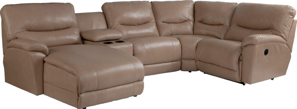 Casual Five Piece Reclining Sectional Sofa With Ras Chaisela Z With Gardiners Sectional Sofas (Image 2 of 10)