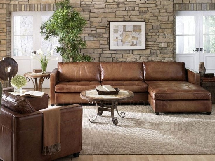Catchy Leather Sectional Sofa Camel Leather Sectional Sofa With Within Camel Sectional Sofas (Image 7 of 10)