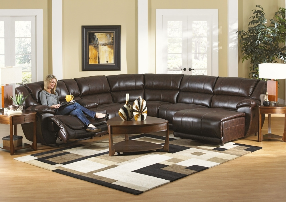 Catnapper Park Avenue 6 Piece Sectional Sofa With 6 Piece Leather Sectional Sofas (Image 4 of 10)