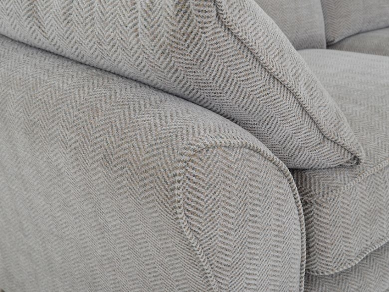 Cavan Large Fabric Sofa – Lee Longlands Intended For Tweed Fabric Sofas (Image 2 of 10)