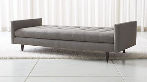 Chaise Lounge Sofas And Chairs | Crate And Barrel In Long Chaise Sofas (View 4 of 10)
