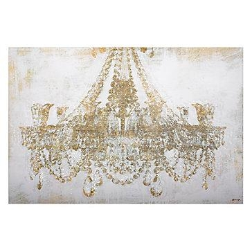 Chandelier Diamond Dust | Glittering Art | Art | Z Gallerie With Chandelier Canvas Wall Art (Image 4 of 20)