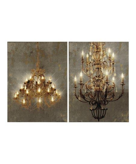 Chandelier Light Up Canvas Wall Art – Set Of Two | Zulily For Chandelier Canvas Wall Art (Image 5 of 20)