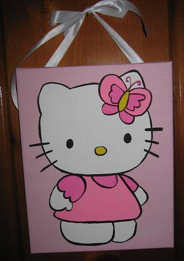Charmed: Handpainted Canvas Wall Decor Within Hello Kitty Canvas Wall Art (View 5 of 20)
