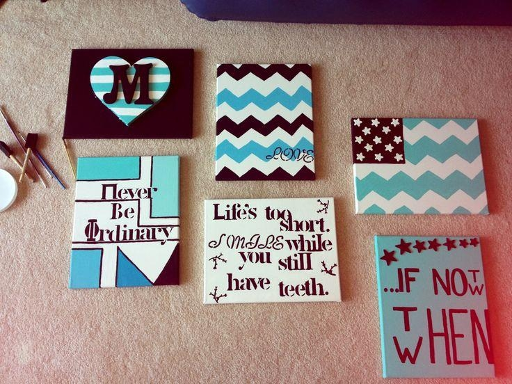 Charming Easy Diy Canvas Paintings #28 – Easy Diy Canvas Wall Art Pertaining To Canvas Wall Art For Dorm Rooms (Image 6 of 20)