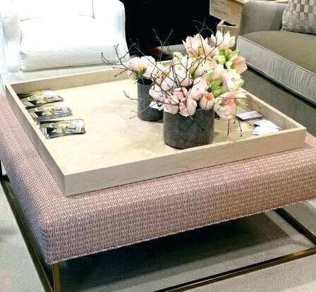 Charming Large Coffee Table Ottoman Tray For Ottoman Coffee Table Pertaining To Ottomans With Tray (View 4 of 10)