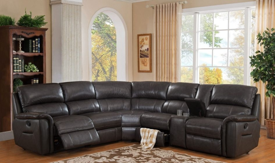 Cheap Leather Sectionals Tan Leather Sectional Ottoman Couch Leather Within Cheap Sectionals With Ottoman (Image 2 of 10)