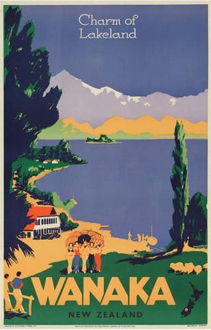 Check Out Vintage Poster Of Wanaka New Zealand At New Zealand Fine Inside New Zealand Canvas Wall Art (Image 16 of 20)