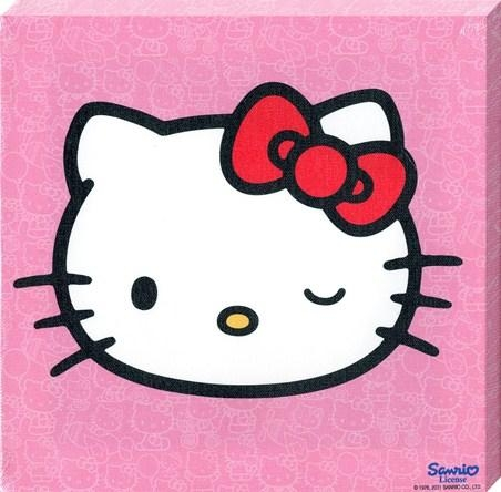 Cheeky Little Cat, Hello Kitty – Popartuk Throughout Hello Kitty Canvas Wall Art (Image 7 of 20)