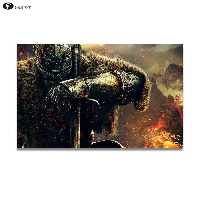 Chenfart Poster On The Wall War Gaming Canvas Oil Painting For Regarding Gaming Canvas Wall Art (Image 9 of 20)