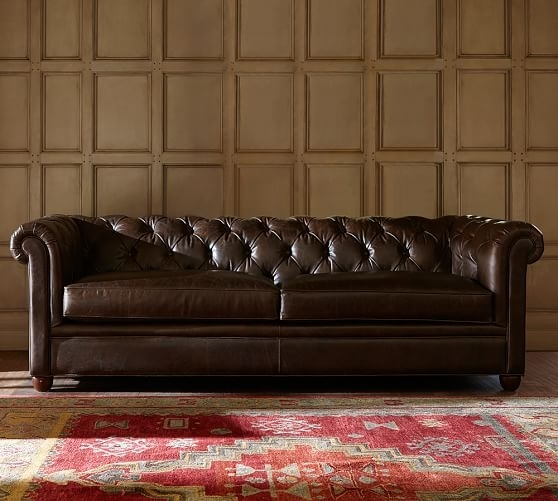 Chesterfield Leather Sofa | Pottery Barn With Regard To Leather Chesterfield Sofas (Image 4 of 10)