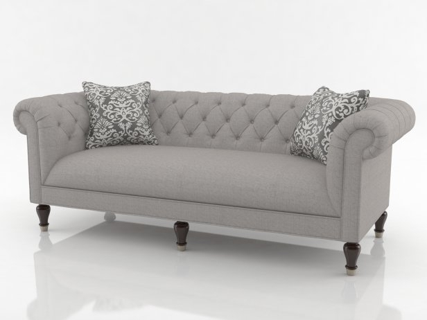 Chesterfield Sofa 3D Model | Bassett Pertaining To Chesterfield Sofas (Image 3 of 10)