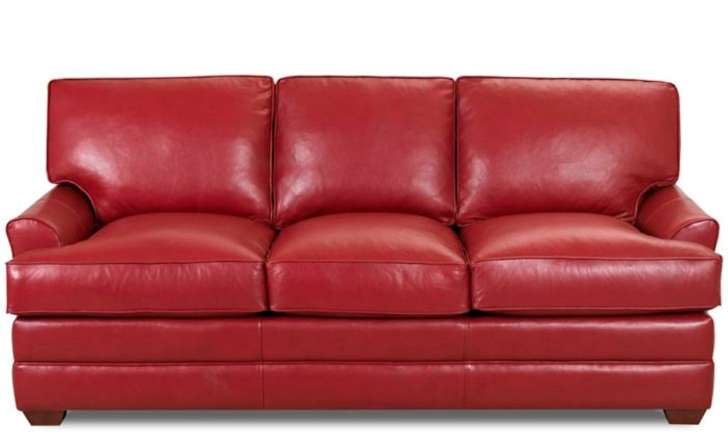 Chic Full Size Leather Sleeper Sofa Red Leather Sofa Sleeper Full With Red Sleeper Sofas (Image 3 of 10)