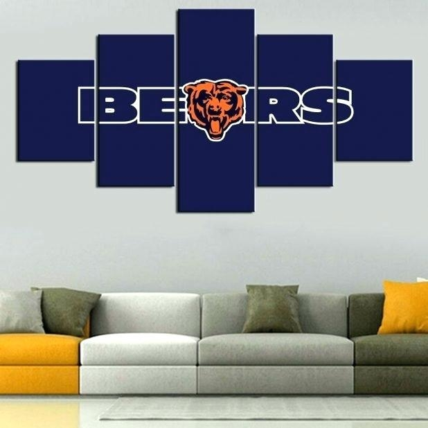Chicago Bears Wall Decor 5 Piece Canvas Art Bears Poster Paintings Inside Canvas Wall Art In Canada (Image 8 of 20)