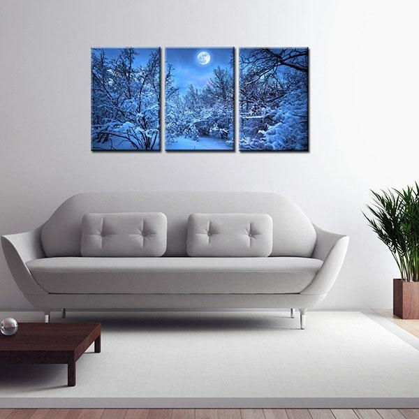 China Wholesale Framed Hd Canvas Art Print Blue Night Wall Art With Leadgate Canvas Wall Art (Image 8 of 20)