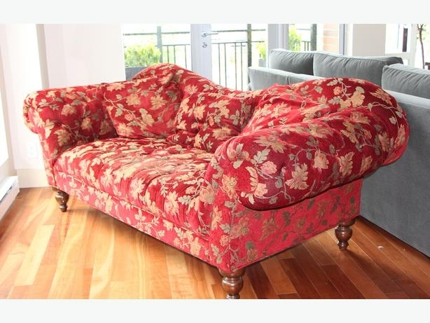 Chintz Sofa Chintz Dark Red Katherine Sofa Victoria City Victoria For Chintz Sofas (Image 4 of 10)