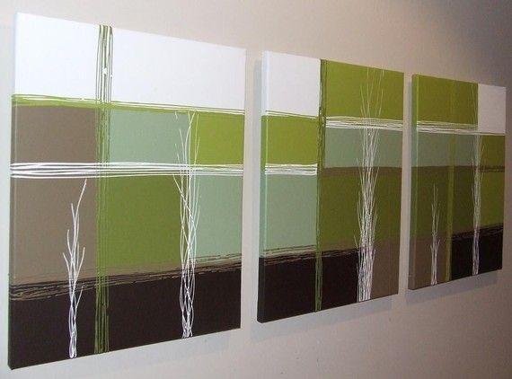 Chocolate Brown, Lime Green And Aqua | Lime Green Chocolate Brown In Olive Green Abstract Wall Art (Image 7 of 20)