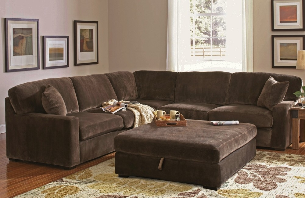 Chocolate Brown Sectional Sofa – Home Design Ideas And Pictures Within Chocolate Brown Sectional Sofas (Image 3 of 10)
