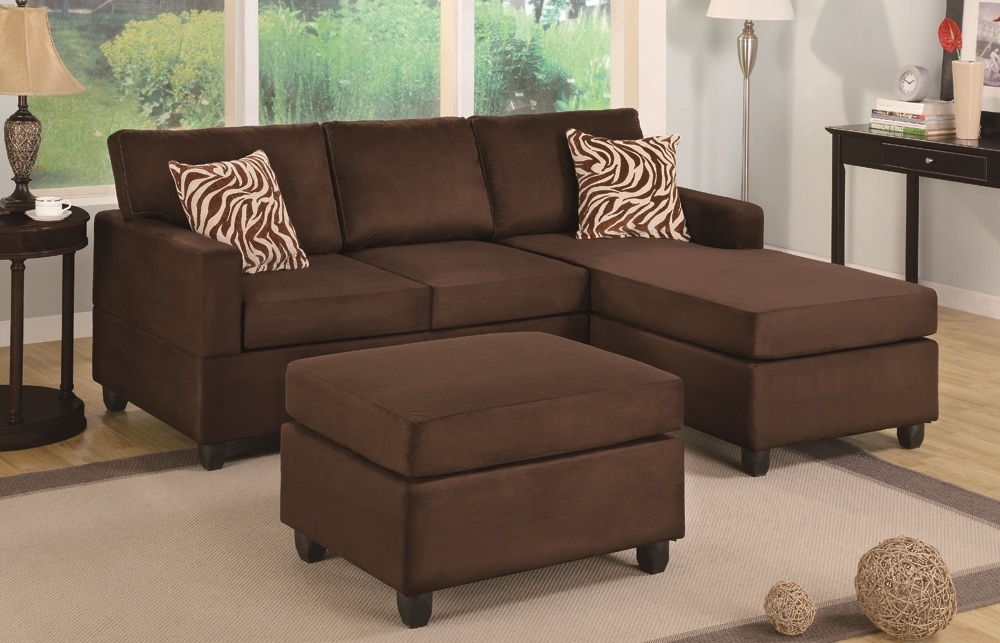 Chocolate Sectional & Ottoman – Paradise Furniture In Sectionals With Ottoman (Image 3 of 10)