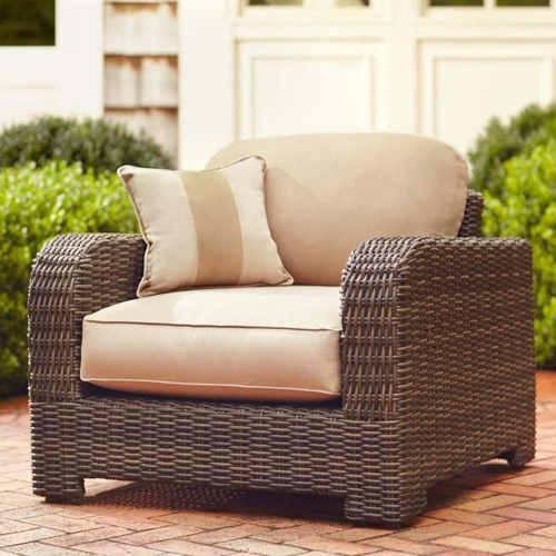 Choose The Right Furniture For Your Patio At The Home Depot Within Outdoor Sofa Chairs (Image 3 of 10)
