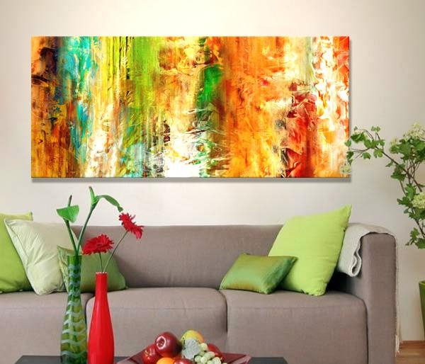 "Cianelli Studios: More Information | ""just Being"" Large Abstract Regarding Large Abstract Canvas Wall Art (Image 6 of 20)"