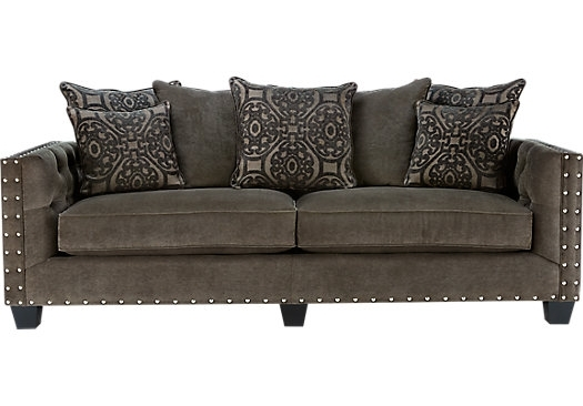 Cindy Crawford Home Sidney Road Gray Sofa | Sofa Furniture, Room And With Cindy Crawford Sofas (Image 6 of 10)