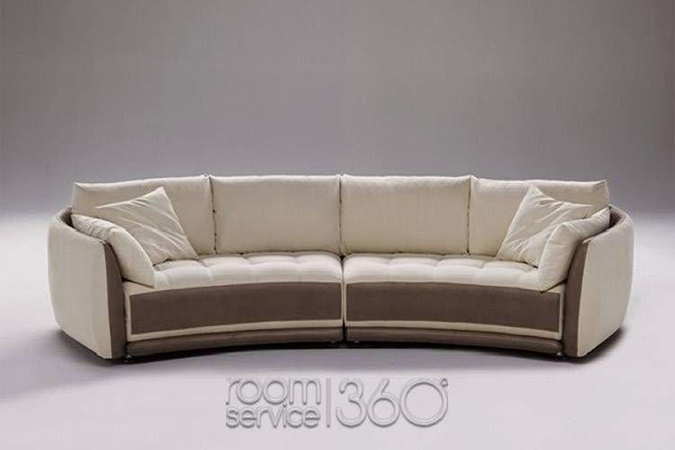 Circular Sectional Sofa | Planet Contemporary Italian Leather Round Inside Rounded Sofas (Image 1 of 10)