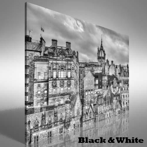 City Centre Of Edinburgh Canvas Print Large Picture Wall Art | Ebay Inside Edinburgh Canvas Prints Wall Art (Image 2 of 20)