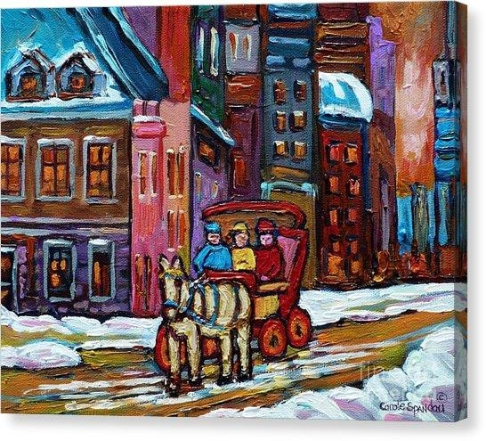 City Of Montreal Canvas Prints (Page #14 Of 47) | Fine Art America Throughout Montreal Canvas Wall Art (Image 5 of 20)