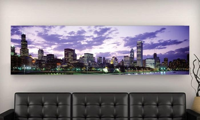 City Skyline Canvas Prints – Imagekind Skyline Gallery Wrapped Regarding Groupon Canvas Wall Art (Image 6 of 20)