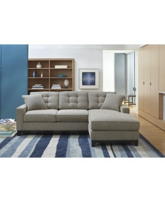 Clarke Fabric 2 Piece Sectional Sofa, Only At Macy's $ (Image 3 of 10)