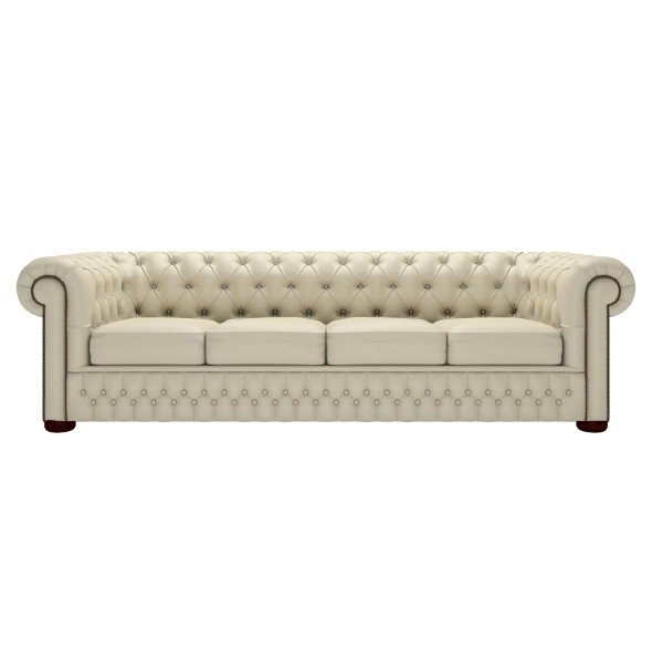 Classic Chesterfield Four Seater Sofa | Timeless Chesterfields Within Four Seater Sofas (Image 4 of 10)