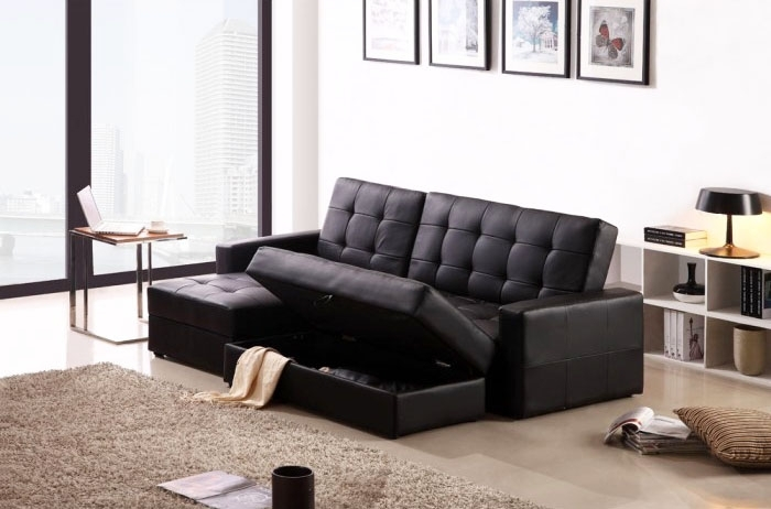 Classic Leather Sofa Bed Design Ideas For Living Room – Home Design In Leather Sofas With Storage (Image 3 of 10)