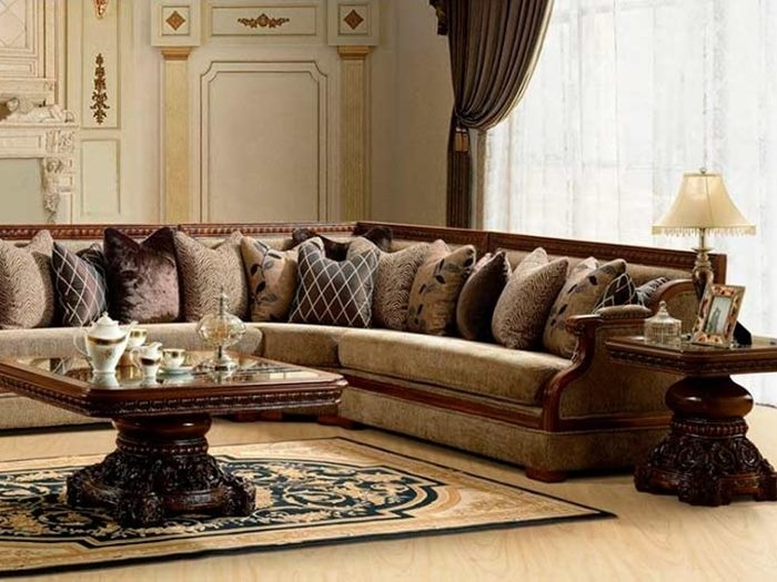 Classic Sectional Sofa For Elegant Living Room – 4 Home Decor For Elegant Sectional Sofas (Image 4 of 10)