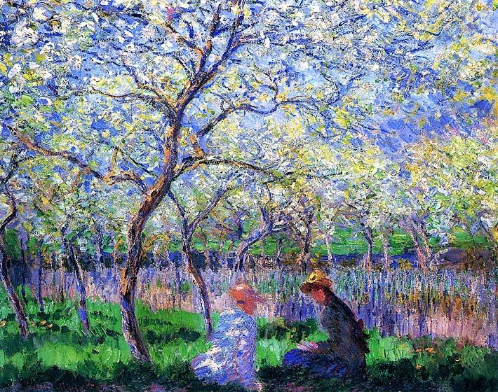 Claude Monet Springtime Canvas Prints And Framed Art At Accents N With Monet Canvas Wall Art (Image 7 of 20)
