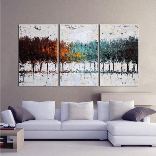 Clay Alder Home The Forest' Hand Painted Gallery Wrapped Canvas For Overstock Abstract Wall Art (Image 6 of 20)