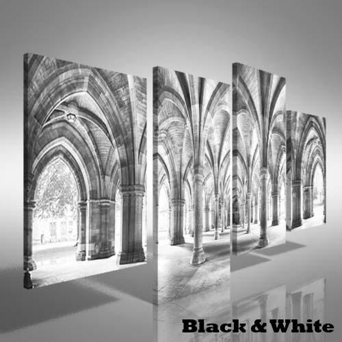 Cloisters Of Glasgow University Offset Canvas Print Large Picture Throughout Glasgow Canvas Wall Art (Image 4 of 20)
