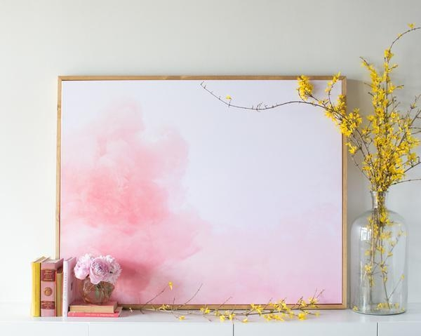 Cloud Canvas With Regard To Pink Abstract Wall Art (Image 7 of 20)