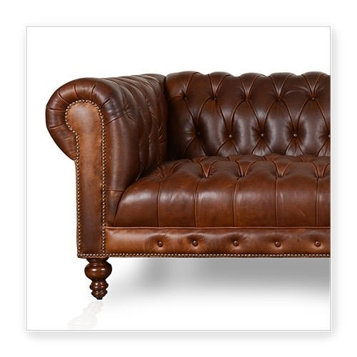 Cococo Custom Chesterfield Leather Tufted Sofas – Made In Usa In Tufted Leather Chesterfield Sofas (Image 2 of 10)