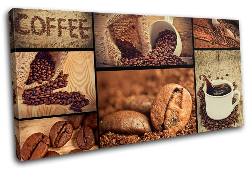 Coffee Shop Food Kitchen Single Canvas Wall Art Picture Print Va Throughout Kitchen Canvas Wall Art (Image 6 of 20)