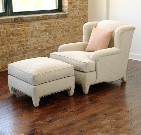 Colette Lounge Chair And Ottoman – Lounge Chairs, Ottomans, Benches Throughout Chairs With Ottoman (Image 1 of 10)