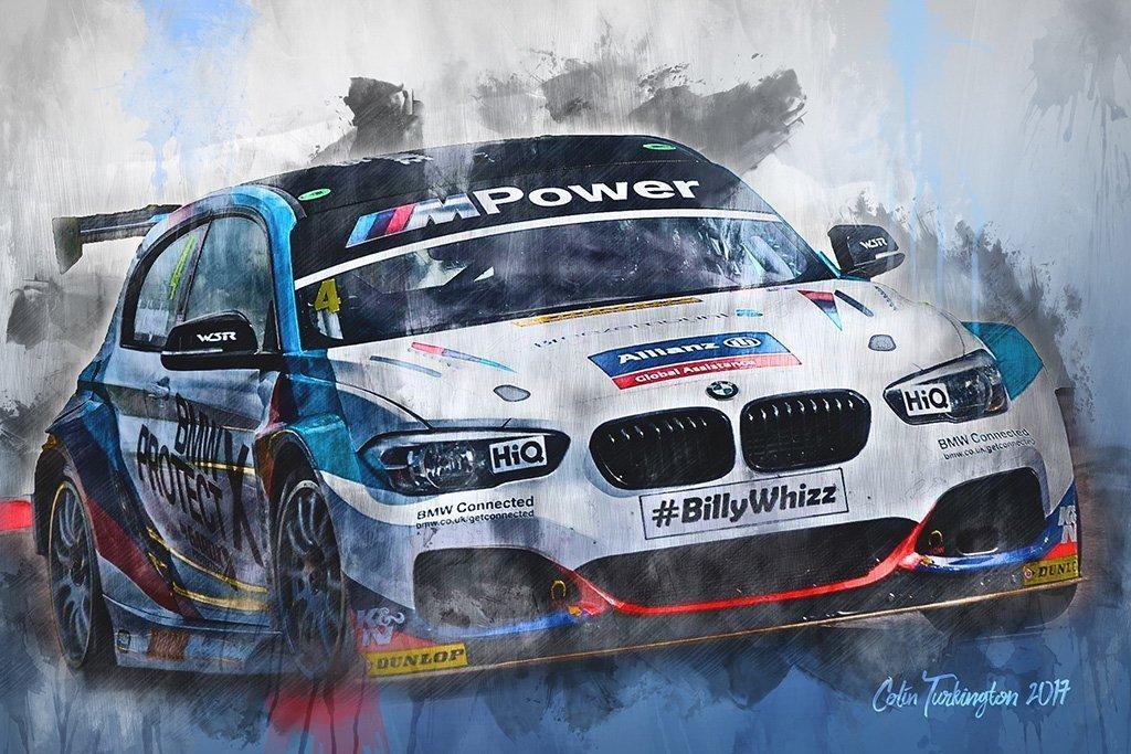 Colin Turkington | Canvas Wall Art Print | Btcc | Motorsport Art Throughout Bmw Canvas Wall Art (Image 7 of 20)