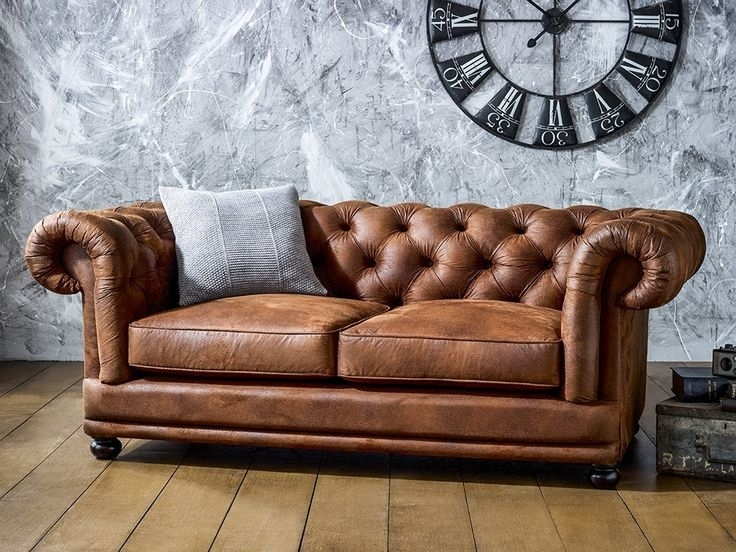 Collection In Chesterfield Tufted Leather Sofa – Interiorvues Pertaining To Tufted Leather Chesterfield Sofas (Image 3 of 10)